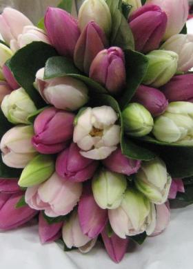 Bouquet di tulipani per la sposa