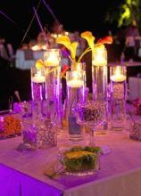 Decorazioni con candele per il tavolo della confettata