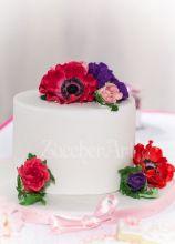 Torta di nozze con fiori