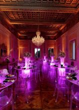 Tavoli luminosi per il matrimonio