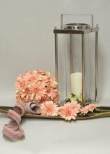 Composizione romantica con fiori rosa - Garden Chic a Padova