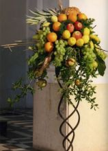 Composizione di frutta per il matrimonio