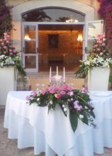 Addobbi in rosa per il ricevimento di matrimonio