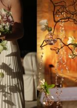 Bouquet a cascata di orchidee e rose