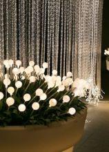 Vasi luminosi per la location di matrimonio