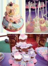 Princess'd cake pops e cupcake