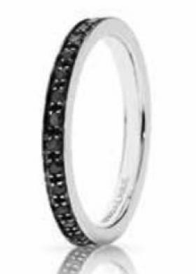 Anello con diamanti neri - Serie Schegge di Venere