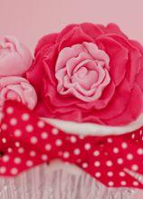 Dettagli del fiore del cupcake