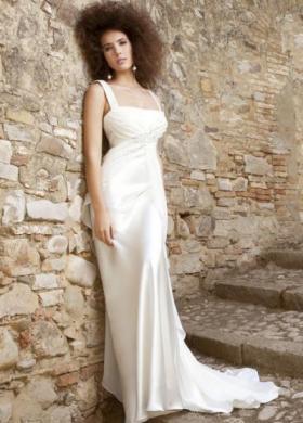 Angela Pascale Spose - Abito da sposa a sottoveste con intreccio sotto il seno