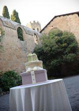 Wedding cake asimmetrica per il matrimonio