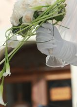 Il bouquet della sposa di calle attorcigliate