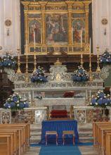 Chiesa in blu per il matrimonio
