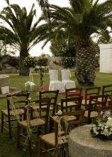 Allestimento country per la cerimonia di nozze