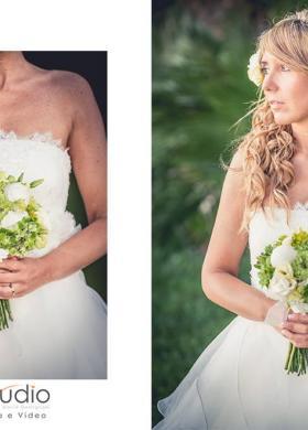Bouquet con peonie e ortensie