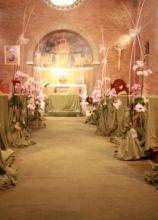 Fiori per le nozze nella Chiesa del Divino Amore (Roma)