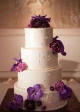 wedding cake con orchidea vanda e ranuncoli