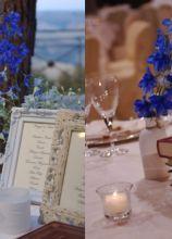 Centrotavola blu per il matrimonio
