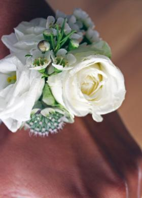 V+M Wedding Corsage