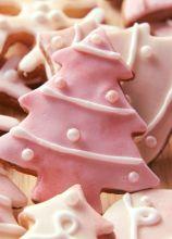 Biscotti a forma di albero di Natale realizzati