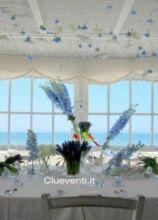 Tavolo imperiale per battesimo sul mare