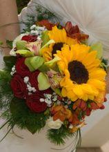 Bouquet di girasoli per la sposa