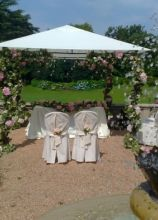 Cerimonia di matrimonio in giardino