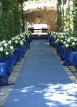 Allestimenti floreali per la cerimonia di matrimonio in giardino