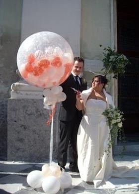 Il Punto Esclamativo - Decorazioni con palloncini per gli sposi