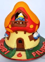 Puffi Cake