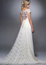 Vestito da sposa con ricami in pizzo