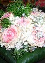 Bouquet rose e Swarovski
