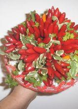 Bouquet di peperoncini per la sposa