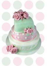 Torta verde e rosa