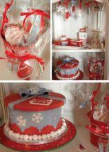 Buon natale wedding natalizia, biscottini segnaposto e cupcake