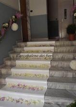 Addobbi floreali per l'uscita da casa della sposa