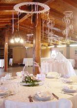 Allestimento originale della sala del ricevimento di nozze