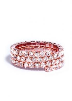 Anello rosè con cristallli Wedding Luxury