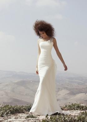 Angela Pascale Spose - Vestito da sposa a sirena con mono spallina