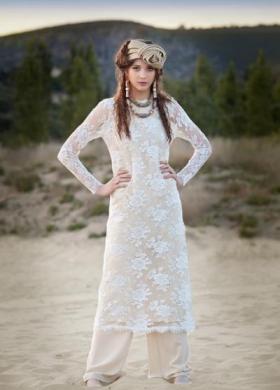 Daniela Gristina - Abito da sposa in pizzo con pantaloni