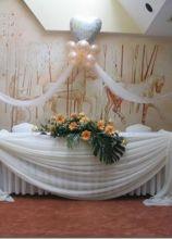 Allestimento con palloncini per il ricevimento di matrimonio