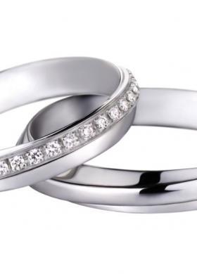 Fedi Polello oro bianco e diamanti.La Gioielleria sas