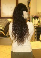 Applicazione florelae sui capelli sciolti