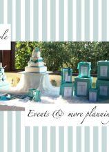Tiffany Style per il tavolo dei dolci allestito da Events & More di Kelly Evans