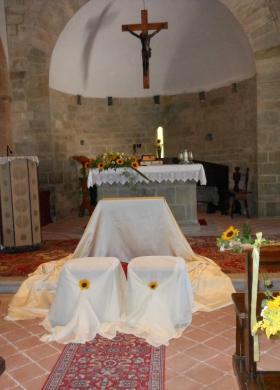 Addobbi di girasoli in Chiesa