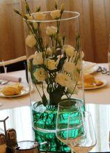 Centrotavola di fiori in vaso