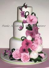 Torta nuziale con rose - Torte d'autore Roma