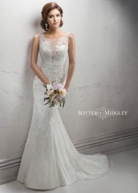 Abito da sposa con tessuto trasparente sullo scollo - Mod. Shanene Sottero    Midgley 7524f9556ff