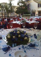 Centrotavola floreali in blu