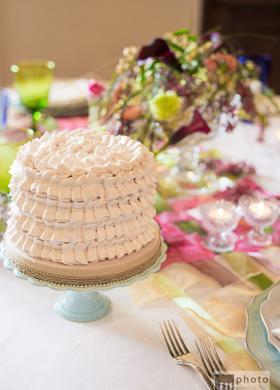 Ruffle cake rosa