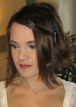Acconciatura per la sposa con capelli corti
